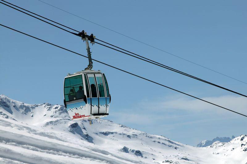 Zimní lyžařské středisko Les Menuires