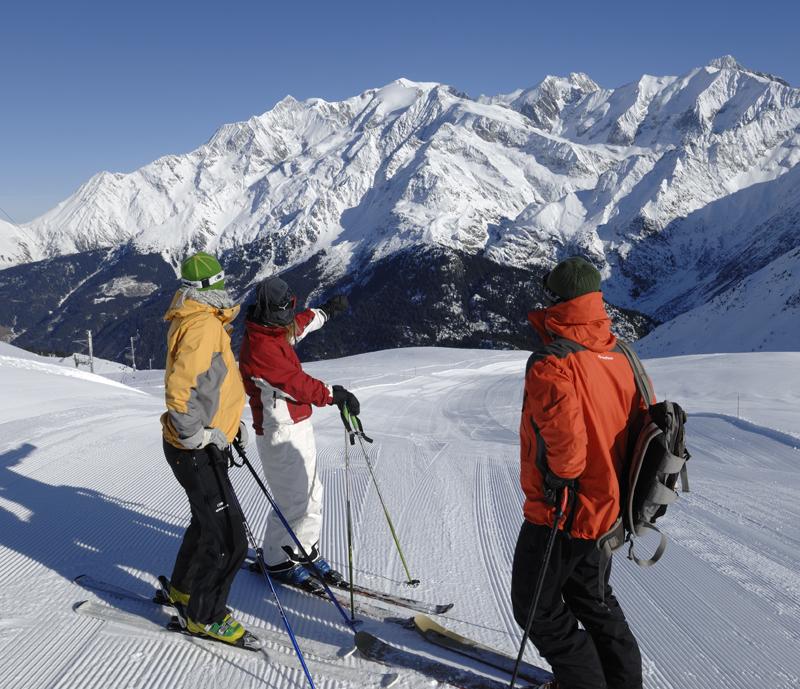 Lyžování a zimní dovolená v Les Contamines Monjoie (Francie, Mont Blanc)