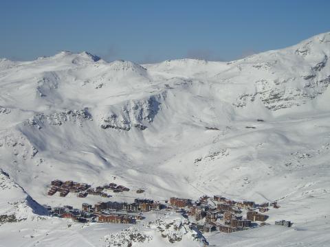 Lyžování a zimní dovolená v Tři údolí (Les Trois Vallées, Francie)