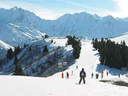 Lyžování a zimní dovolená v Megève (Mont Blanc, Francie)