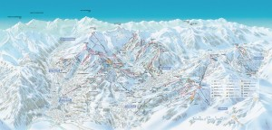 Mapy sjezdovek v Évasion Mont-Blanc (Francie)