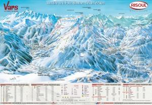 Mapy sjezdovek La Foret Blanche (Francie)