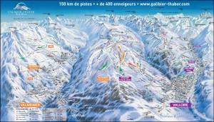 Mapy sjezdovek Valloire a Valmeinier (Francie)