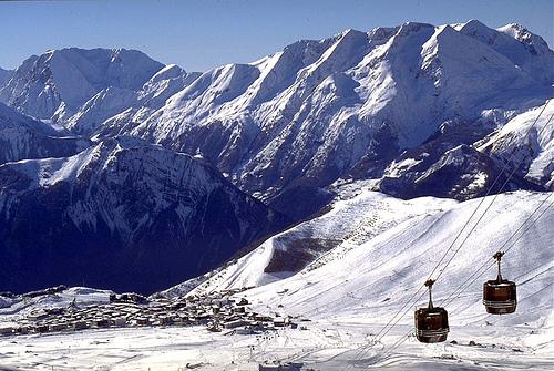 Lyžování a zimní dovolená v Les Grandes Rousses (L'Alpe d'Huez, Francie)