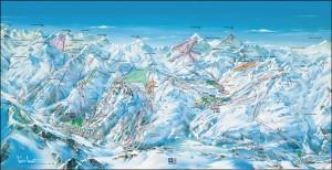 Mapy sjezdovek Espace Killy (Francie)