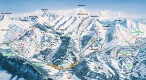 Mapy sjezdovek Les Aravis (Francie)