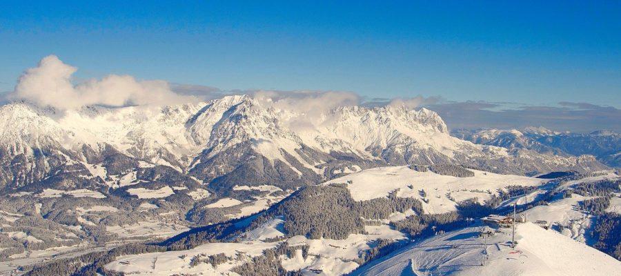 Wilder Kaiser Winter Mountains Alps